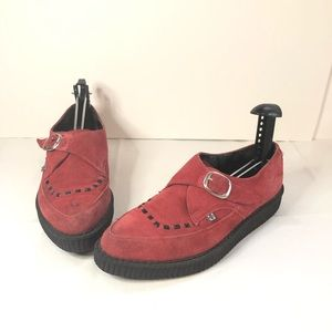 Tuk Creepers Red Suede Mens Size 8